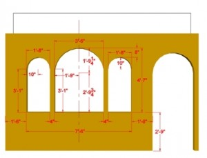 CAD model with dimensions